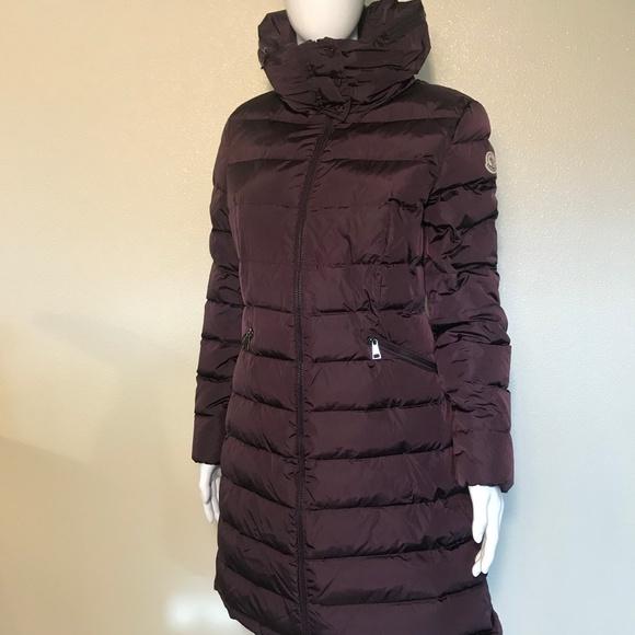 Moncler Flammette Puffer Coat w Packable Hood